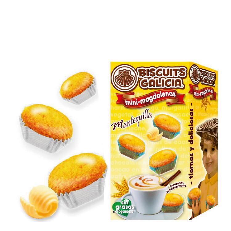 mini-magdalenas mantequilla Biscuits Galicia café hostelería cortesía
