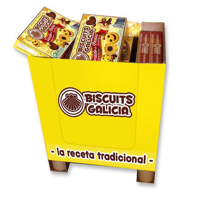 galleta sonrisa chocolate envasada individualmente café merienda desayuno Biscuits Galicia